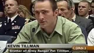 Hearing on Tillman, Lynch Incidents: Kevin Tillman's Opening