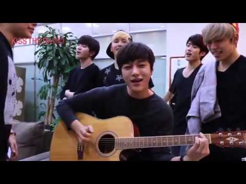 INFINITE L ft. INFINITE   'Can You Smile' Guitar Accoustic Version