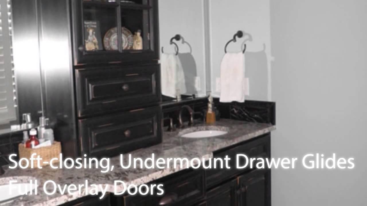 Distressed Black Rta Kitchen Cabinets