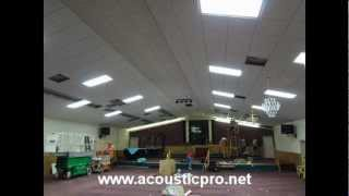 Drop Ceilings Orlando Florida - Church - Suspended - Acoustical