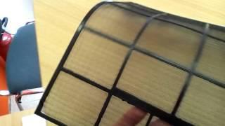 Чистка фильтров бытовых кондиционеров/ Cleaning the filters of household air conditioners