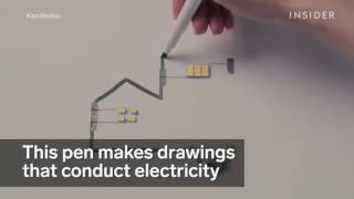 Drawing pen that conduct electricity