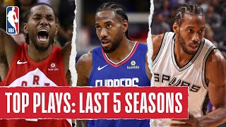 Kawhi Leonard's TOP PLAYS | Last 5 Seasons