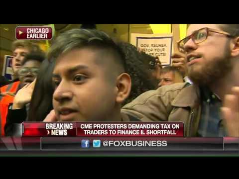 Protestors at CME demand a tax on traders