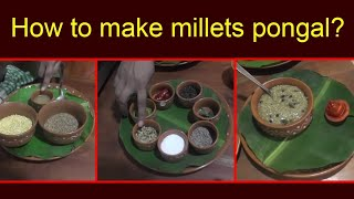 How to make millets pongal II millets pongal II Hemamalini cookery show