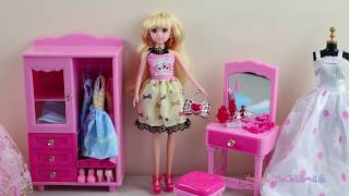 Barbie Doll Dream life Laundry Set Automatic Washing Machine Toy & Doll Play