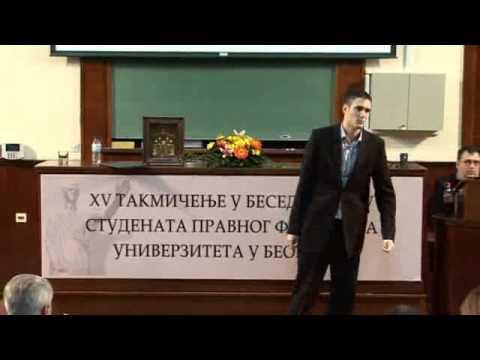 Filip Bojić - XV Takmičenje u besedništvu studenata Pravnog fakulteta
