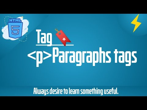 What Is Paragraph Tags In Html? (p1) | HTML5,Html Tutorial | Thunder Coding | With Simple Example