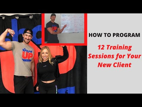 How To Program for a client 12- sessions | Personal Training Show Up Fitness