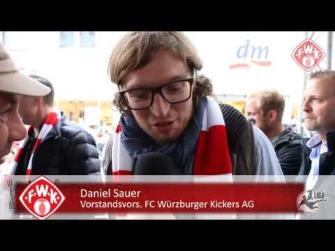 Die Aufstiegsfeier der Würzburger Kickers in der Eichhornstraße