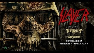 SLAYER Repentless North American Tour w/ TESTAMENT + CARCASS