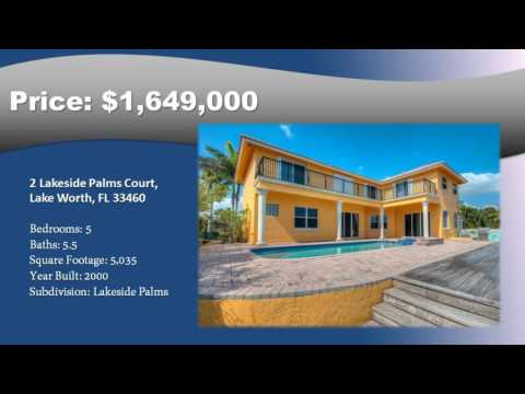 Home For Sale Lakeside Palms Lake Worth Florida-Waterfront