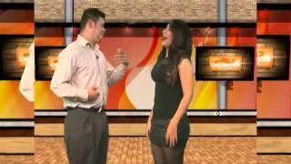 Broma,  falda levantada   en utv 124    La region tv show