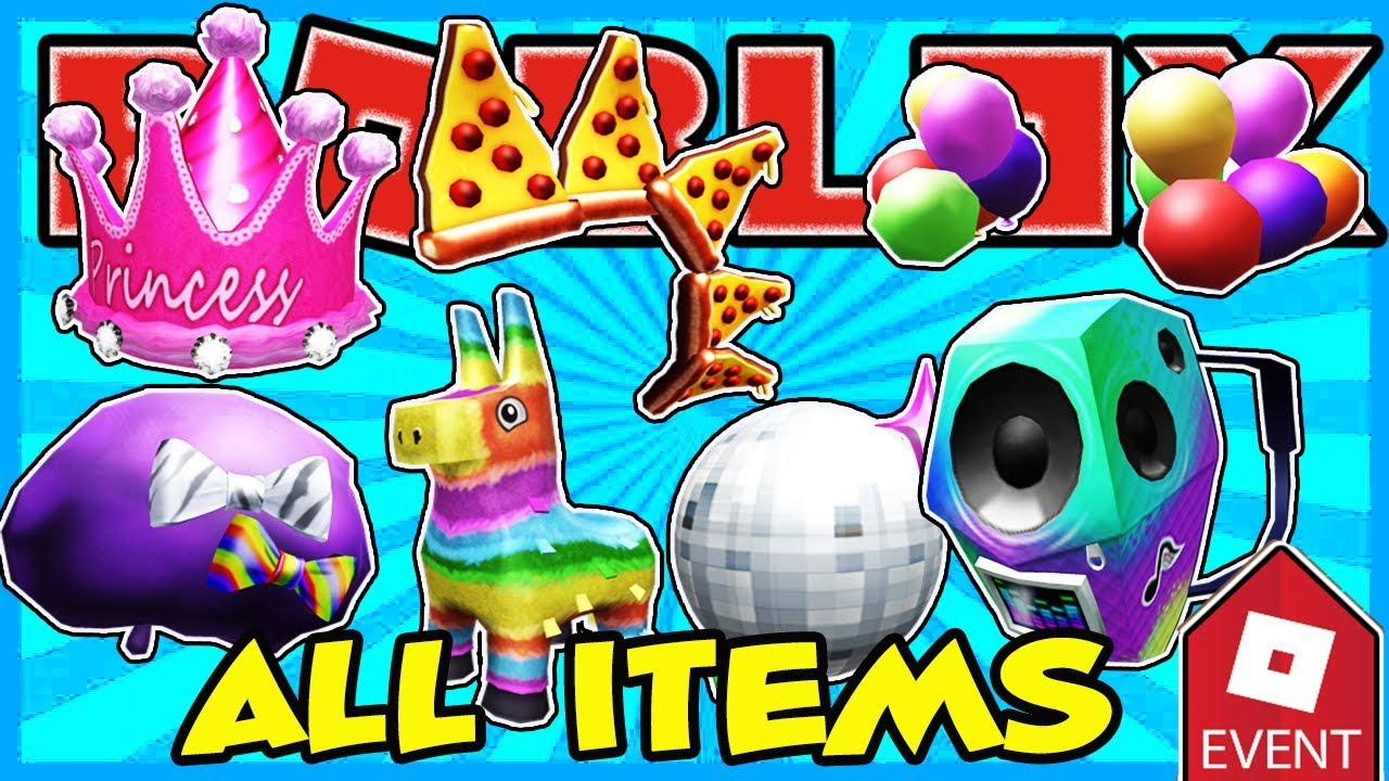 [EVENT] HOW TO GET ALL ITEMS IN THE PIZZA PARTY EVENT IN ROBLOX