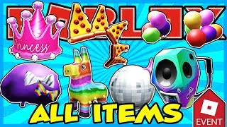 [EREIGNIS] WIE ALLE ITEMS IN DER PIZZA PARTY EVENT IN ROBLOX GET ALL ITEMS