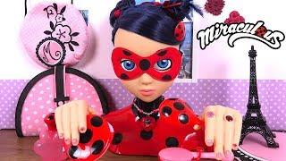 Miraculous Ladybug Tête à Coiffer Styling Head Coiffures, Manucure et Bijoux