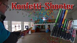 Konfetti-Shooter | Test in großer Halle | Karneval 2017