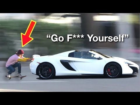 Skitching Lamborghini's in Beverly Hills!