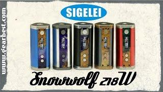 обзор Sigelei  Snowwolf 218W  мод для цыганского барона