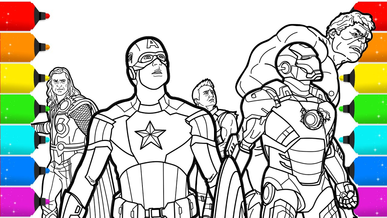 The Avengers Superhero Coloring Pages Youtube