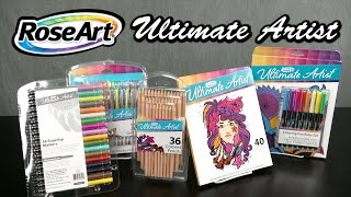 Ultimate Artists Gel Pen, Coloring Portfolio Set, Coloring Pages, Markers & Pencils from RoseArt