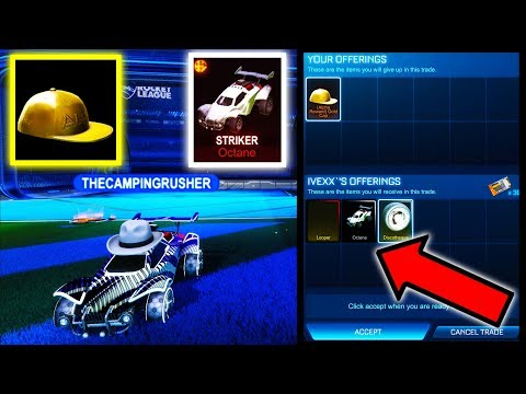 HUGE TRADE: ALPHA CAP FOR STRIKER WHITE OCTANE!! ( $400 Value Rocket League )