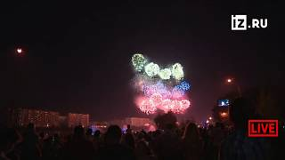 """Международный фестиваль фейерверков """"Ростех"""" в Москве."""