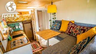 Unbelievably Spacious Van Conversion Into Gorgeous Tiny Home