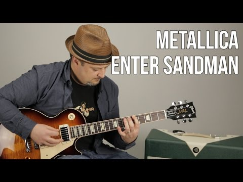 How to Play Enter Sandman on guitar  Metallica Guitar Lessons  Marty Schwartz