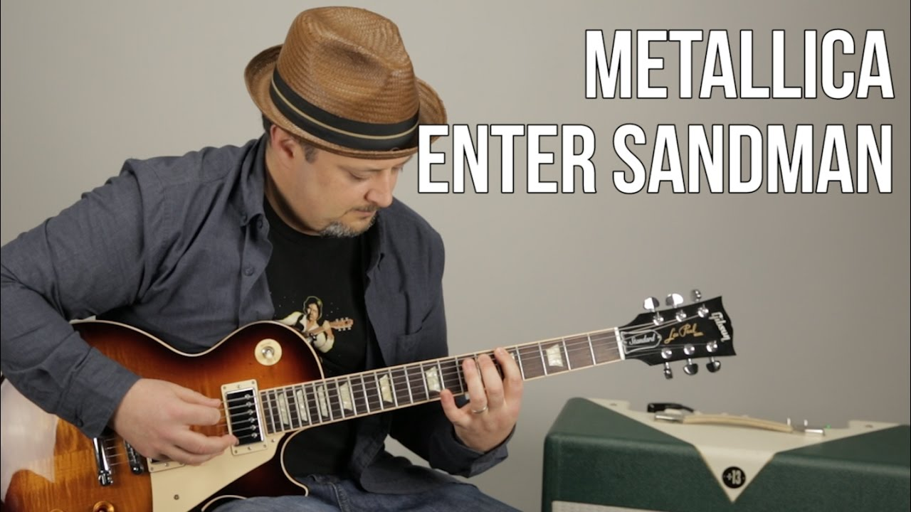 how to play enter sandman on guitar metallica guitar lessons youtube. Black Bedroom Furniture Sets. Home Design Ideas