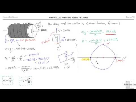 Thin-Walled Pressure Vessel - Example - YouTube