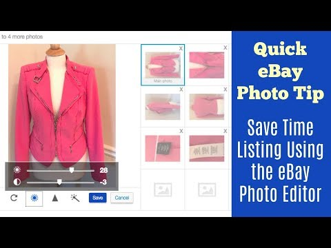Quick EBay Photo Tip - Save Time Listing Using The FREE EBay Photo Editor