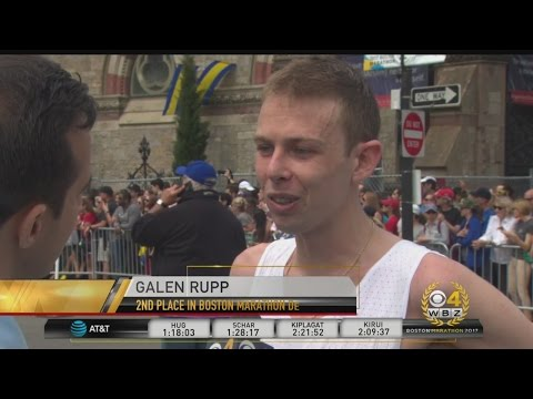 American Galen Rupp Takes 3rd Place In Boston Marathon Men
