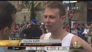 American Galen Rupp Takes 3rd Place In Boston Marathon Men