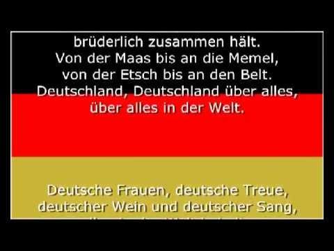 Deutschland Lied (Das Lied der Deutschen) - Nationalhymne