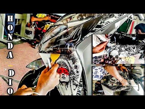 HONDA DIO STICKER MODIFY - YouTube