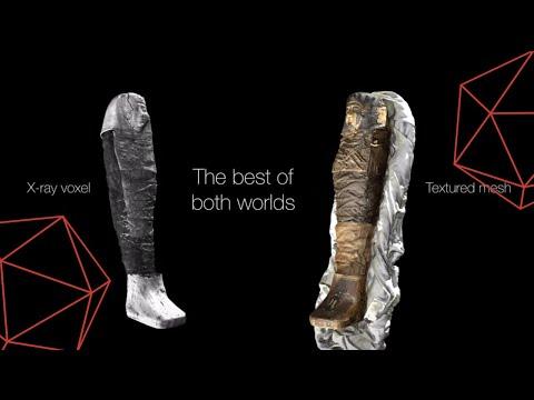 0 - Ägyptische Mumie 3D-gescannt