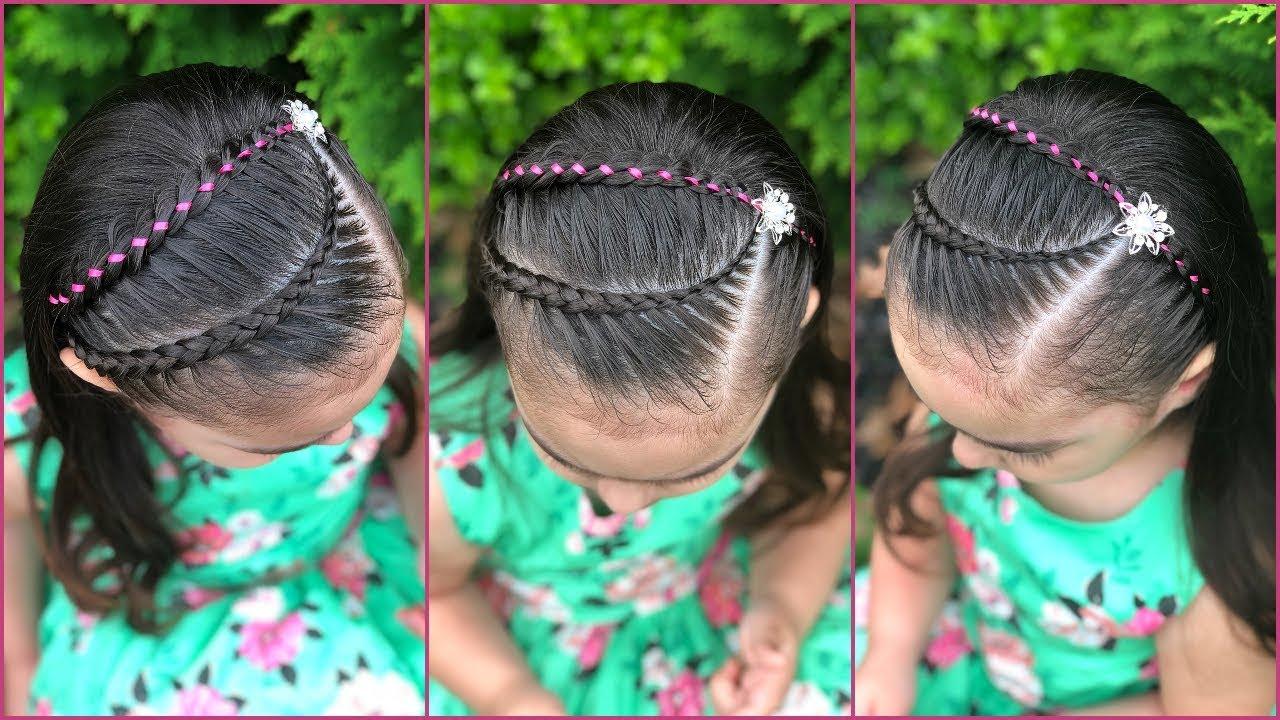 Oportunidades impresionantes peinados para niñas con trenzas Imagen de cortes de pelo consejos - PEINADOS PARA NIÑAS TRENZA DE 4 CABOS CON LISTÓN PARA ...