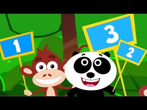 hewan belajar berhitung   nomor lagu   lagu anak-anak   Animals Learn To Count   Numbers For Kids