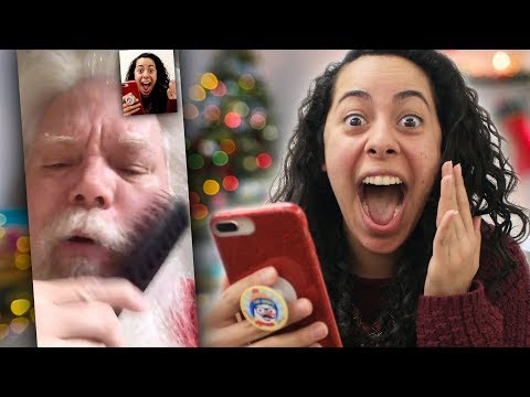 FaceTiming And Calling The REAL Santa! (We Found His Phone Number!)
