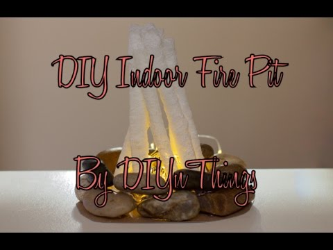 DIY Indoor Fire Pit - YouTube