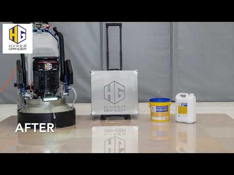Marble floor grinding and polishing with TITAN 530 VS grinder