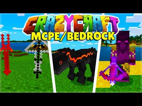 CrazyCraft Modpack For Minecraft Pocket Edition Bedrock NEW Update (iOS, Android, Win 10 & Xbox)