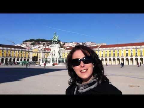 Karen at Praca do Comercio Lisbon Portugal