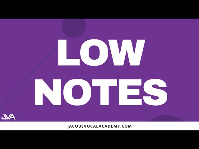 Daily Vocal Exercises For Singing Low Notes