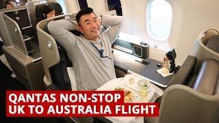 Qantas B787 NON-STOP UK to AUSTRALIA Flight