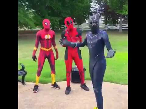 Ghetto Spider-Man vs Ghetto Deadpool vs Blackpanther - Crank That Souljaboy