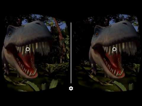 Dinosaurs view master Cardboard Virtual Reality 3D Gameplay 1080p