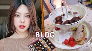 [Blog]zv1카메라로 집에서 발렌타인데이 브라운 메…