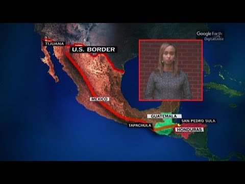 Tracking the migrant caravan's journey from Central America to the southern U.S. border